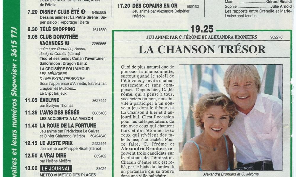 LA CHANSON TRESOR