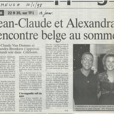 Jean-Claude et Alexandra,  rencontre belge au sommet